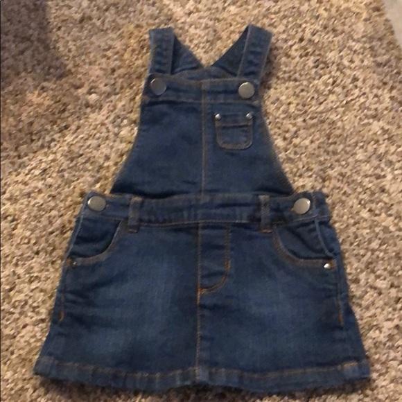 Carter's denim overalls skirt 9 months